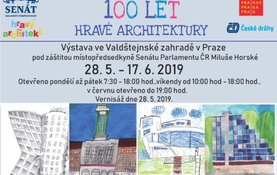 Invitation to the exhibition 100 years of playful architecture in the Wallenstein Garden in Prague from 28 May - 17 June 2019